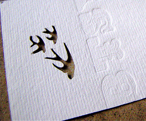 Betsy Hammill's Die Cut Business Card