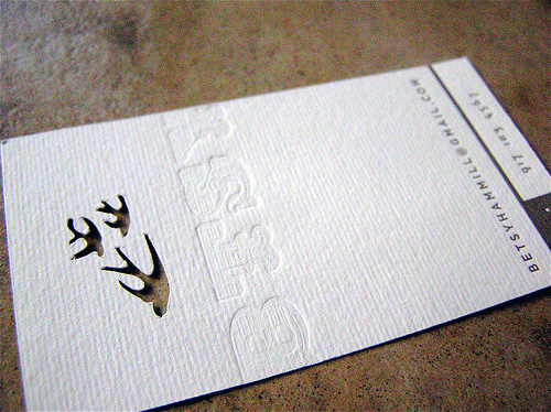 Letterpress Die Cut Business Card