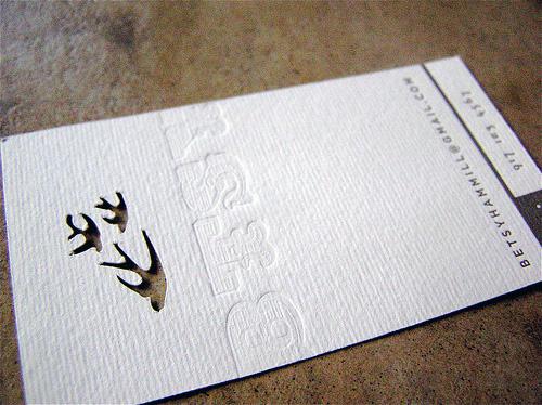 Letterpress Die Cut Business Card