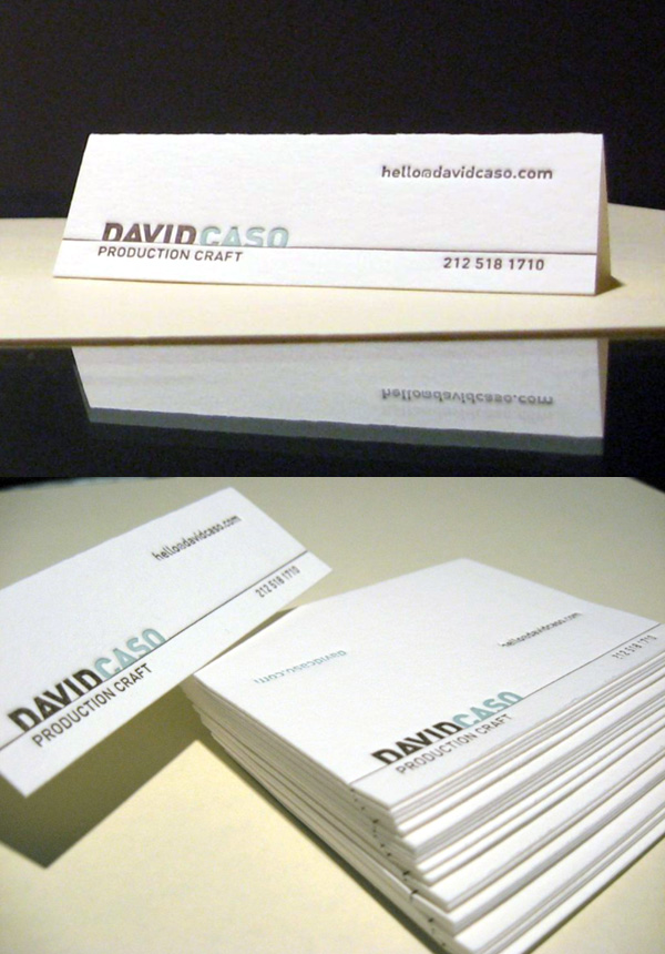 Folding LetterPress Business Card by David Caso