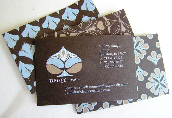 Deuce Creative's Cute Business Card