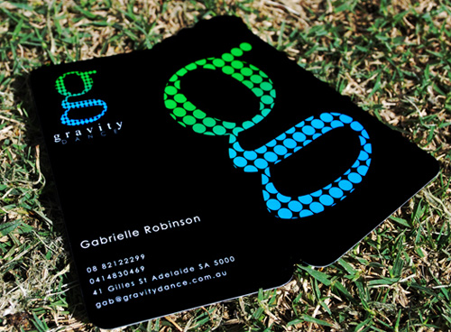 Gravity Dance's Bold Business Card