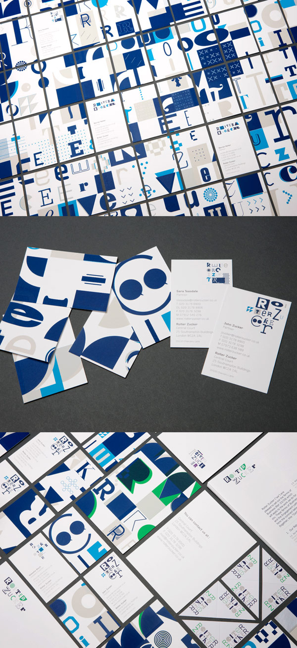 Roiter Zucker Law's Typography Business Cards
