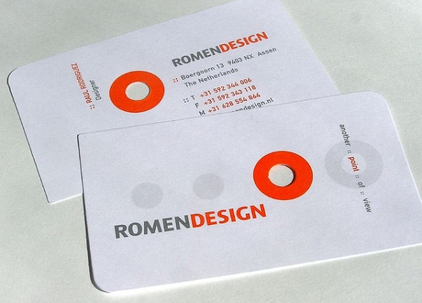 Romen Design's Unique Business Card