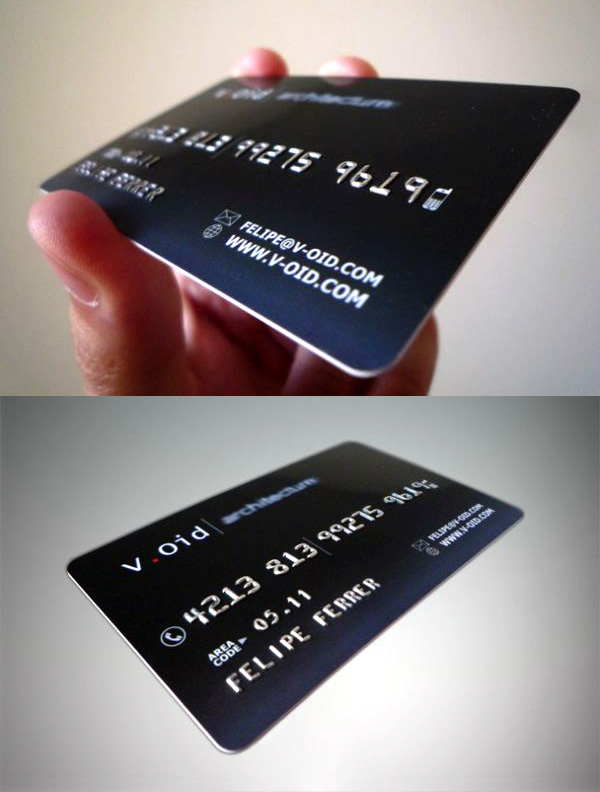 V.Oid Architects Unique Business Card