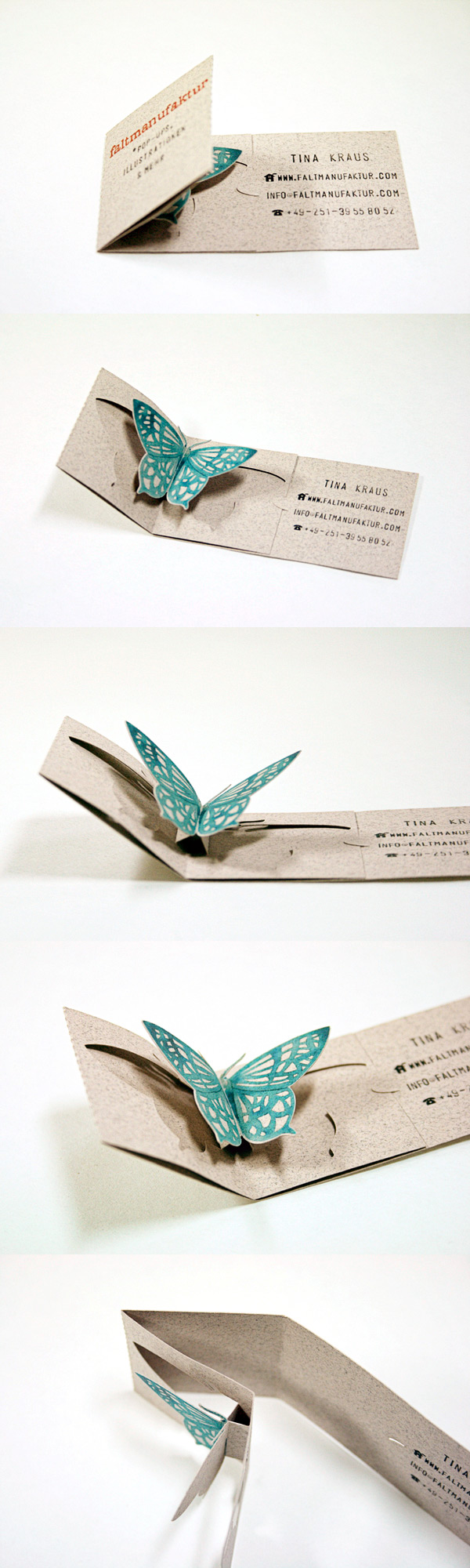 Faltmanufaktur Creative Folding Business Card