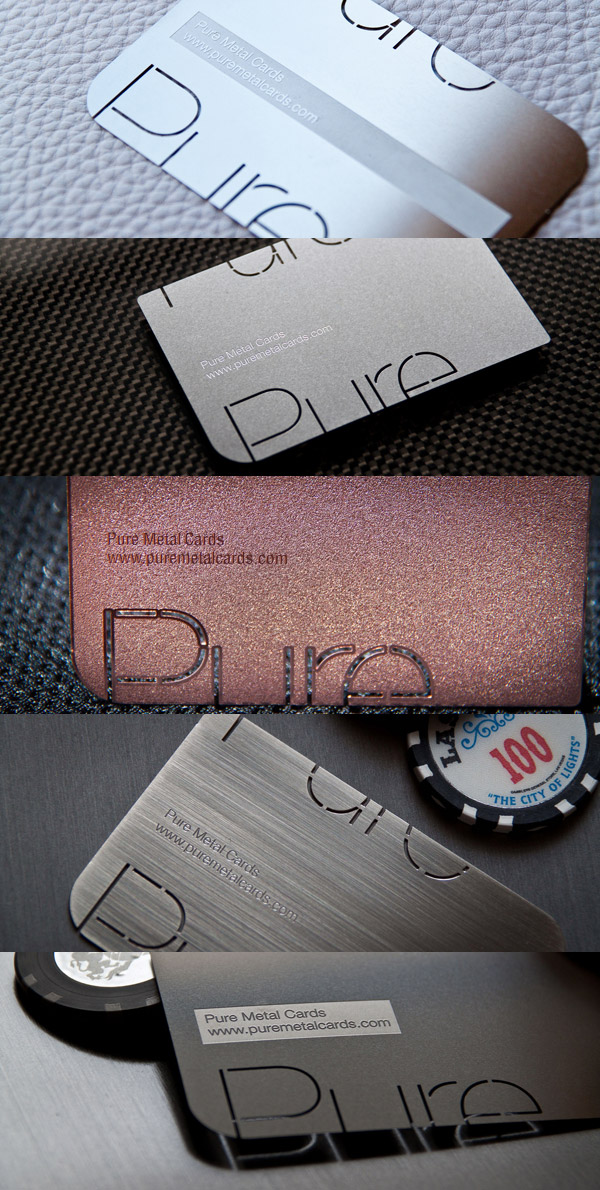Pure Metal Cards Real Metal Business Cards