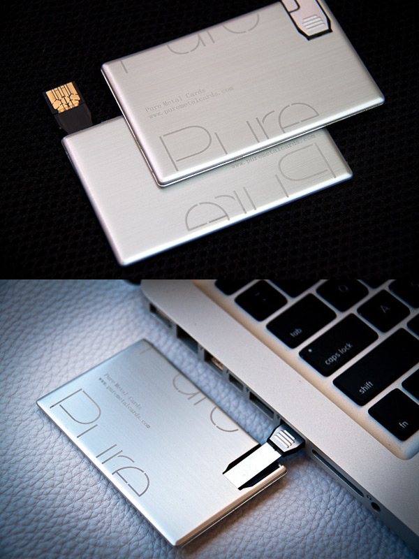 Pure Metal Cards USB Business Cards