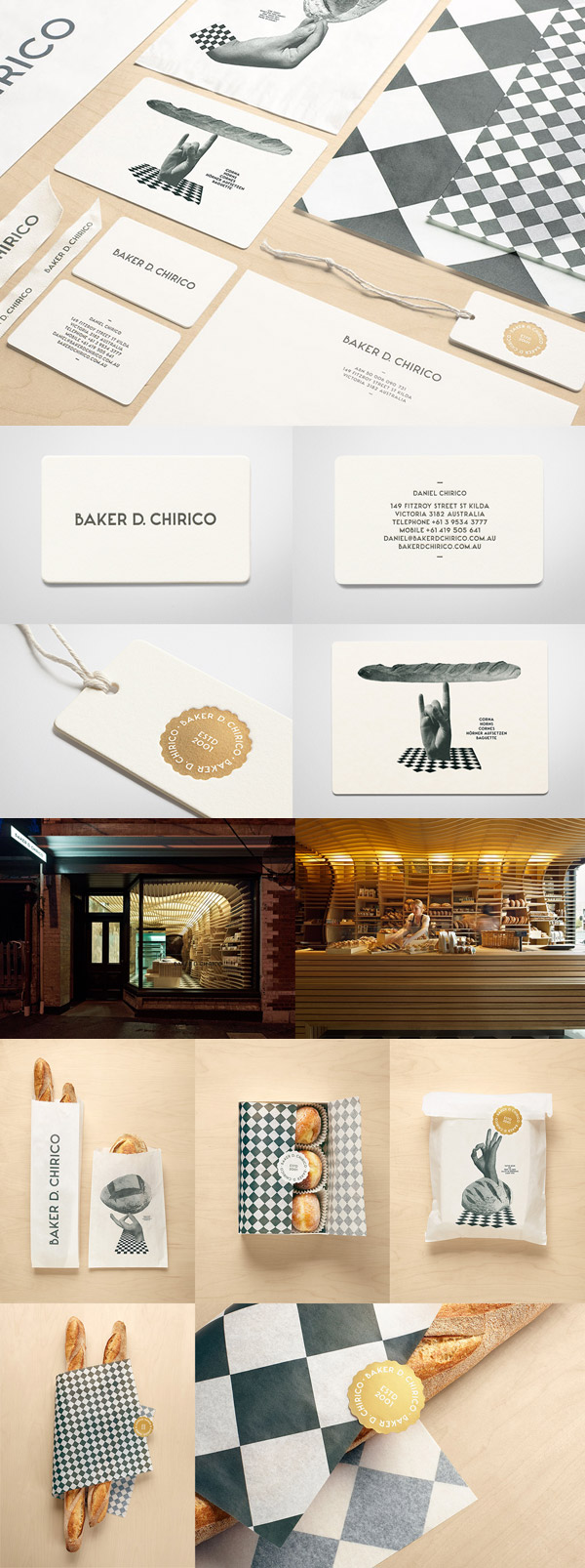 Baker D. Chirico's Minimalist Business Card 
