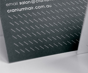 Salon hushs high class business card cranium salons minimalist appointmentbusiness card colourmoves