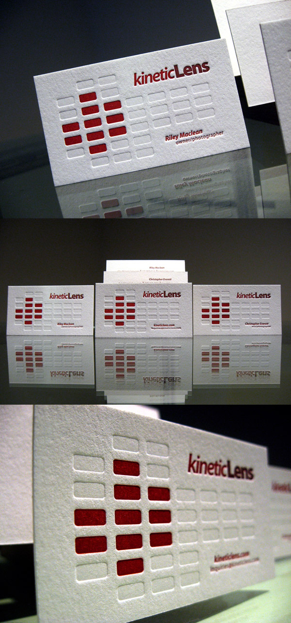 Kinetic Lens Letterpress Business Card
