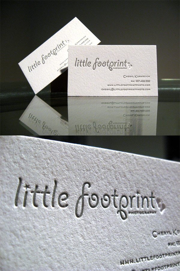Little Footprints Photography's Typography Business Card