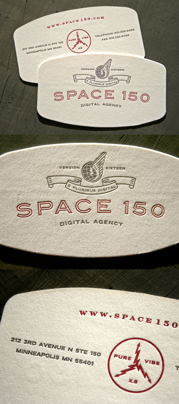 Space150's v16 LetterPress Business Card