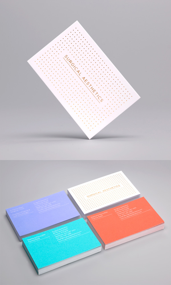 Surgical Aesthetics' Minimalist Business Cards