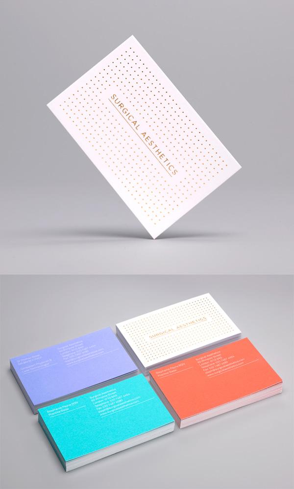 Surgical Aesthetics' Minimalist Business Cards