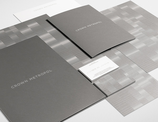 Crown Metropol's Minimalist Business Card & Stationary