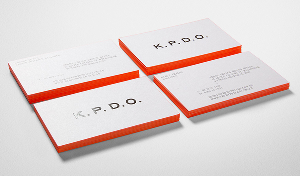 K.P.D.O.'s Minimalist Business Card