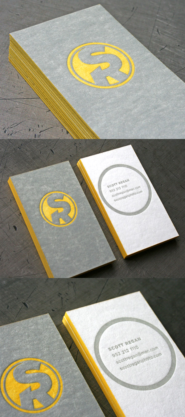 Scott Regan's Letterpress Business Card