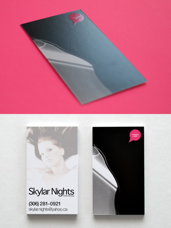 Skylar Nights UV Spot Photography Business Cards