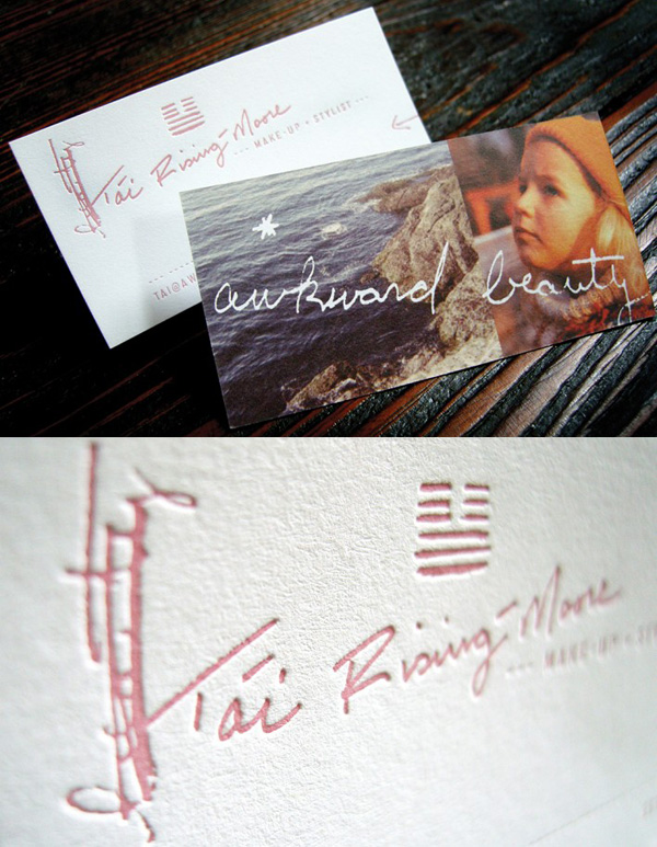 T'ai Rising Moore's Letterpress Business Card