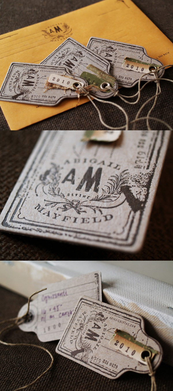 Abigail Mayfield's Letterpress Custom Tags