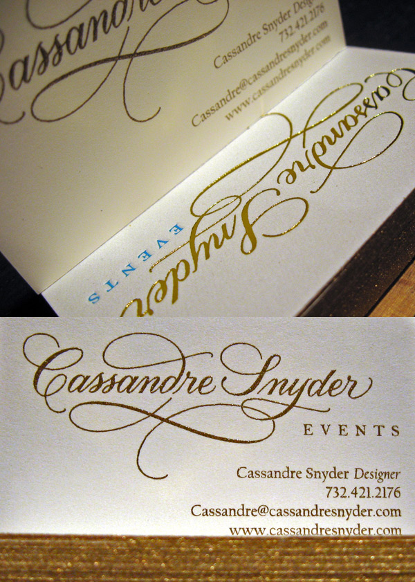 Cassandre Snyder Events LetterPress Business Card
