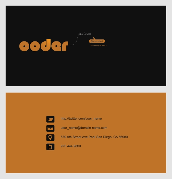 Free Coder Business Card Template