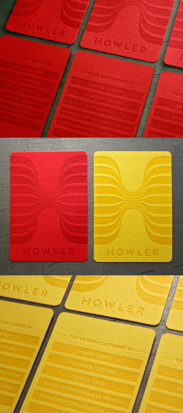 The Howler Magazine's LetterPress Business Cards