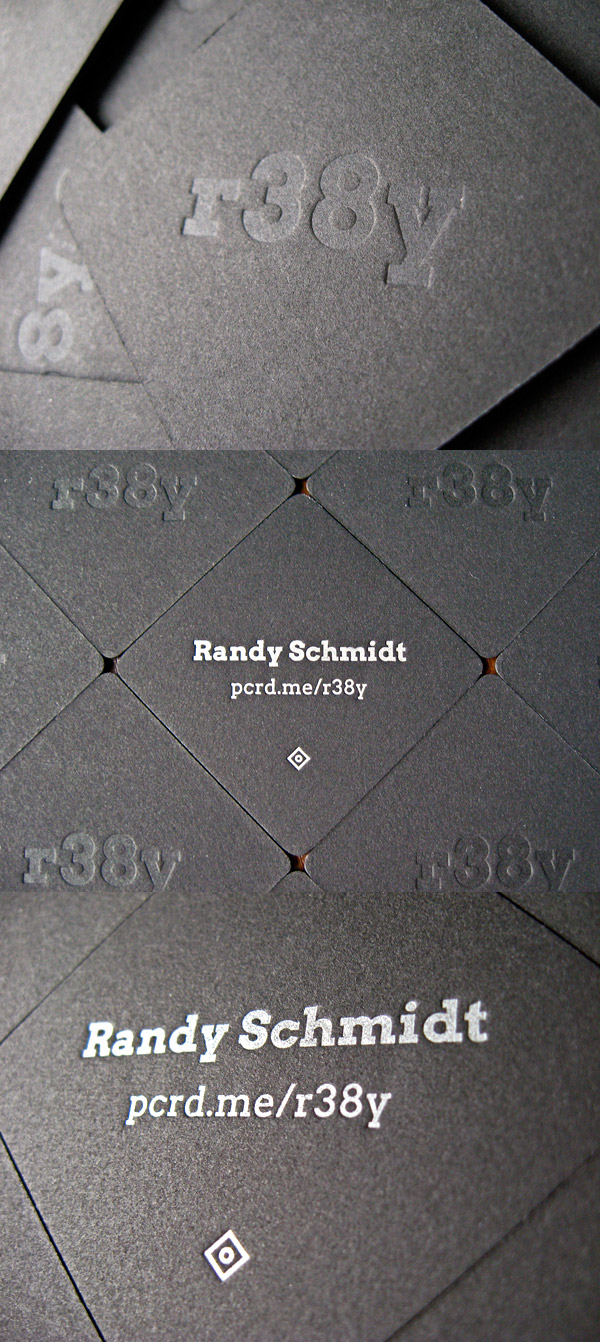 Randy Schmidt's Black Business Card