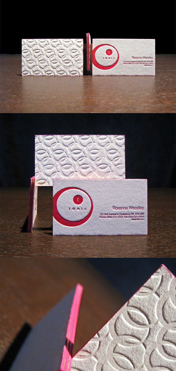 Tonic's Textured LetterPress Business Card