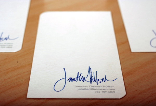 TurnSeven Signature Business Card