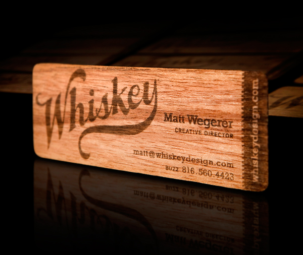 Whiskey Design's Wooden Business Card