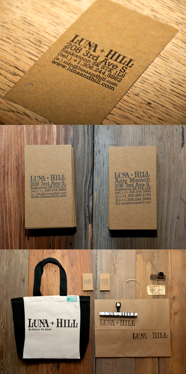 Luna + Hill's Handmade Business Card