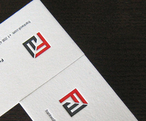 Frank Woll Designs' Letterpress Business Card