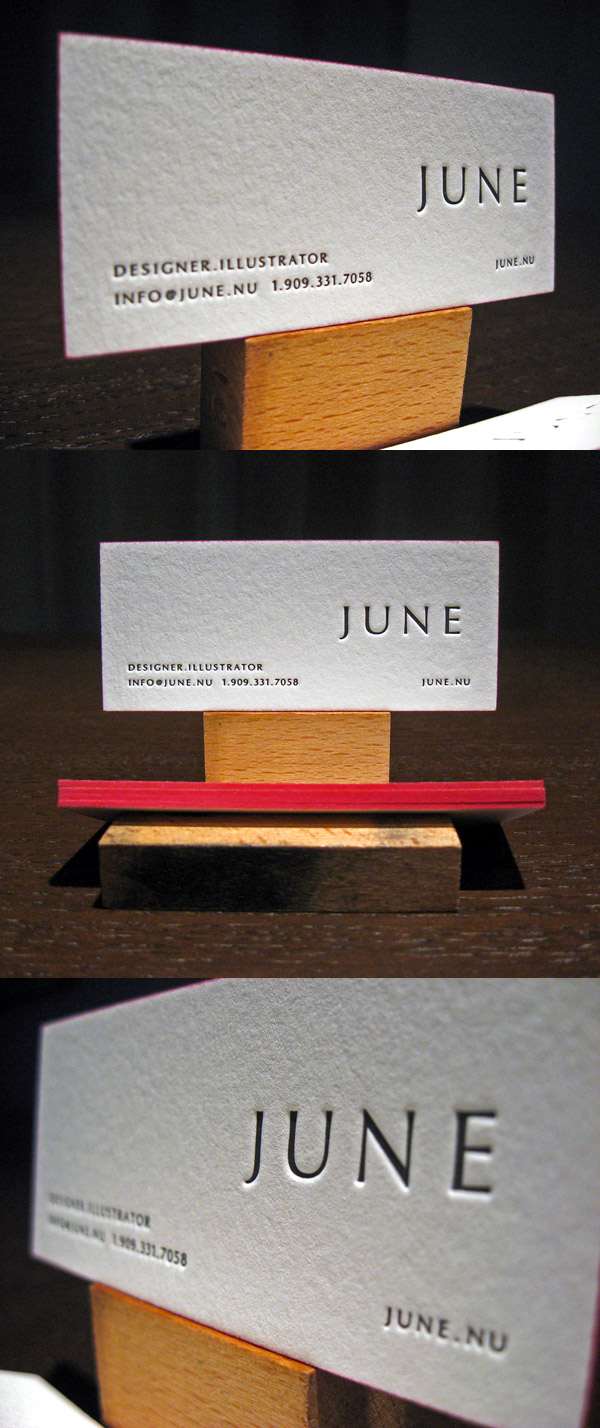 June's LetterPress Business Card