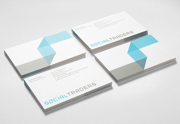 Social Traders' Typographic Business Card