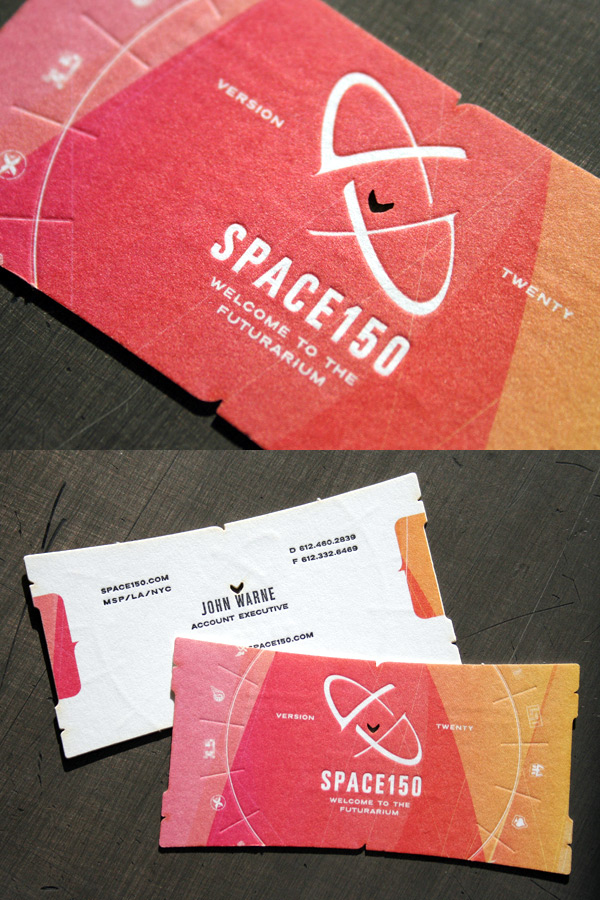 Space150 v20 Die Cut Business Card