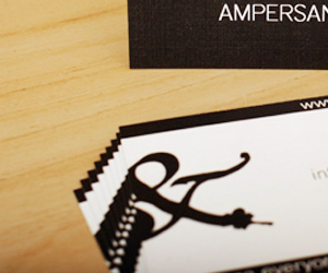 Ampersand Designs' Typography Business Card