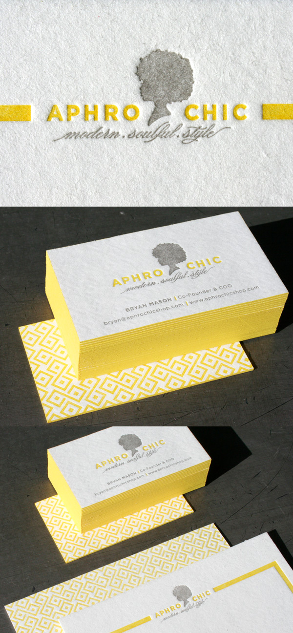 Aphro Chic's Cool Letterpress Business Card