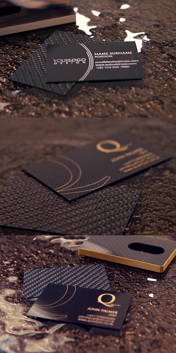 Cardissimo's Carbon Fiber Business Card