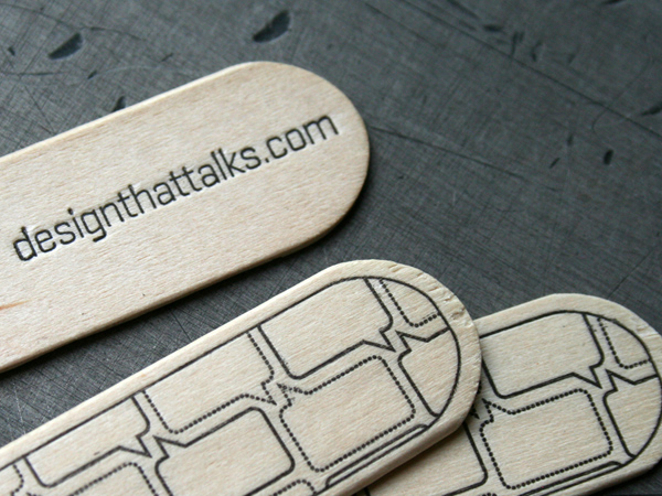 Designthattalk's Cool Tongue Depressor Business Card
