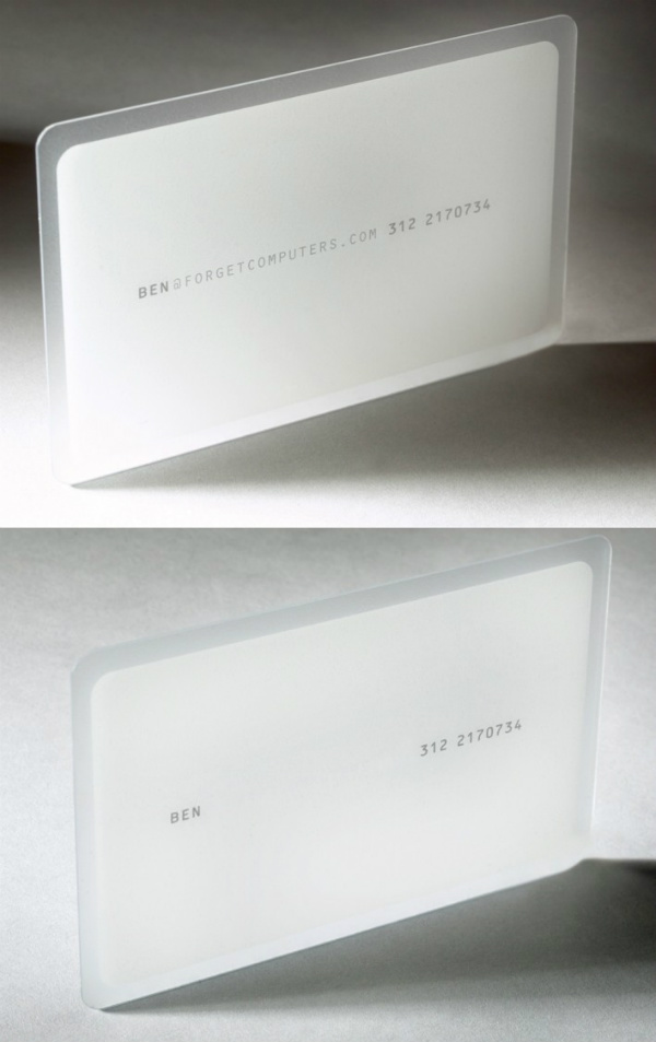 Forget Computer's White Business Card