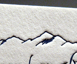 Breck Luxury Home's Legendary Realty Letterpress Business Card