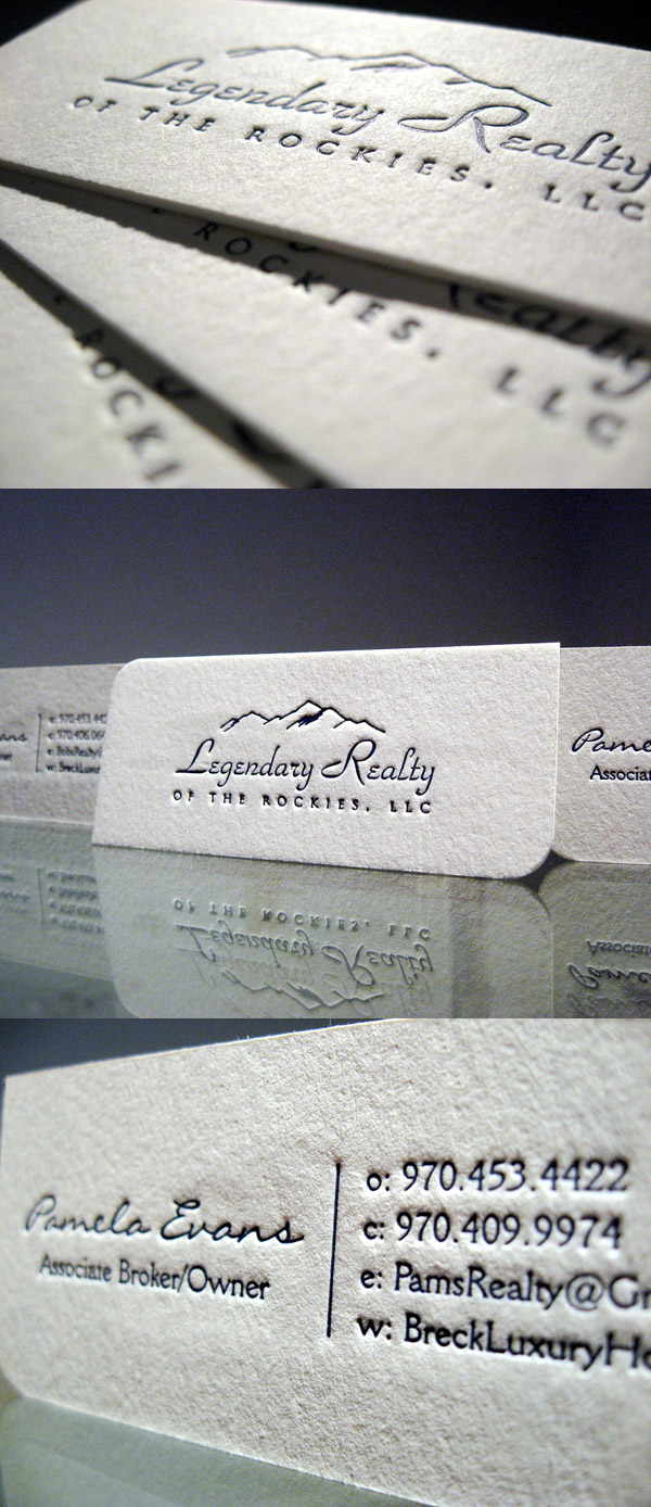 Breck Luxury Home's Letterpress Business Card