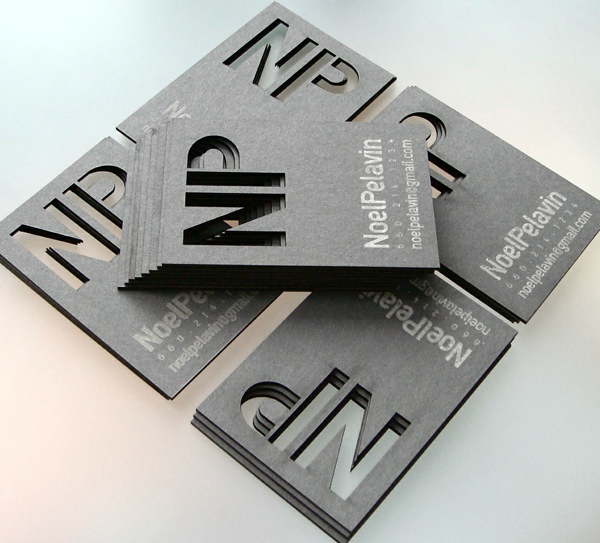 Noel Pelavin's Cool Laser Cut Business Card