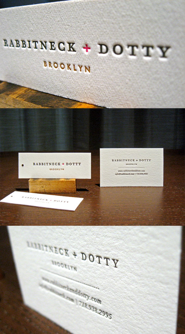 Rabbitneck + Dotty's Letterpress Business Card & Tags