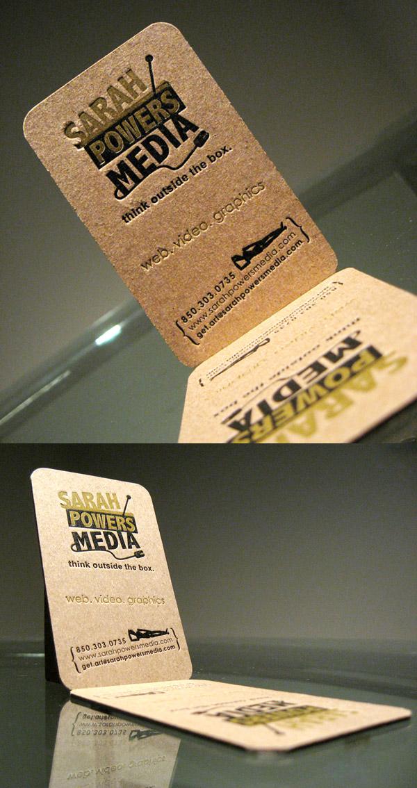 Sarah Powers Media's Natural Business Card