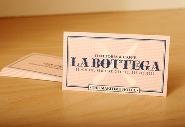 Trattoria Caffe La Bottega Hotel's Cute Business Card