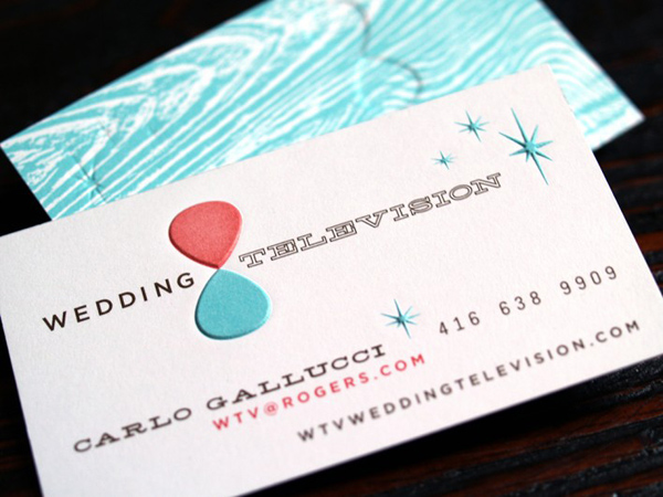 WTV Wedding Television's Colorful Business Card