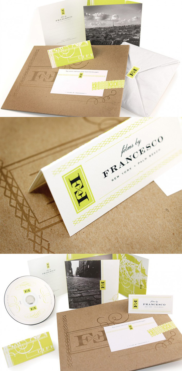 Films by Francesco's Business Card & Identity